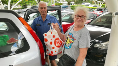 Retired pensioners Keith and Gemma Milliken from Fairfield said pensioners had been forgotten in the budget.