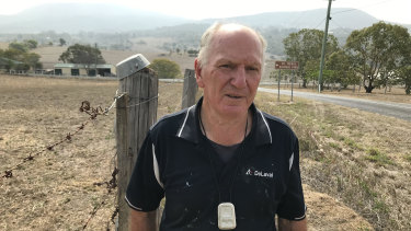 Barry Townsend is prepared if the fires come towards his property near Mt French.