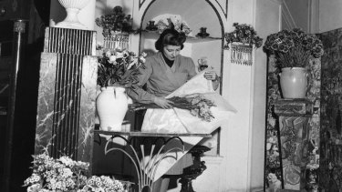 British florist Constance Spry, pictured in 1947, was ahead of her time, adding kale to bouquets in the 1930s.