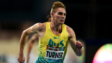 Australian James Turner taking out gold in the men's T36 100m race in Dubai.