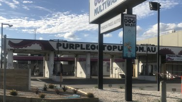The Purple Octopus Multiwash Car Wash and Dog Wash in Hoppers Crossing, where a man was fined for washing his car on Thursday morning.