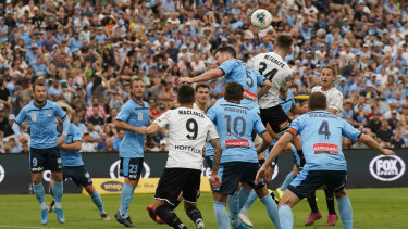 Full house: a crowd of 17,000 turned up for Sydney FC's game against Melbourne City at Netstrata Stadium on Sunday.