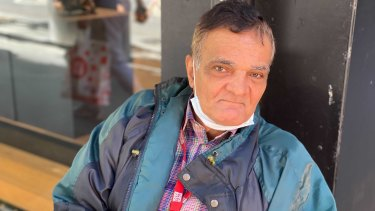 Business was slow for Big Issue vendor Gamal Elkassaby.