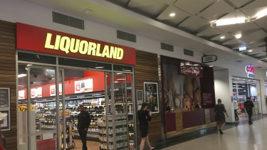 A Liquorland shop in Perth. Coles insists sales are booming along with the rest of the supermarket sector.