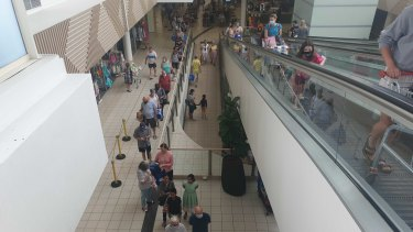 Greenslopes Plaza on Friday morning.