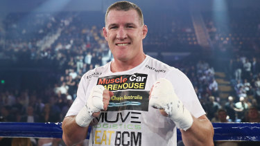 The Huni camp are predicting Paul Gallen will be quickly knocked out.
