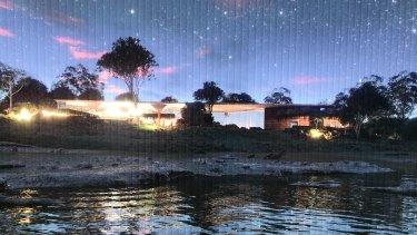 Artist impression of QUAMPI at night.