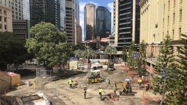 Restoration work underway at Anzac Square