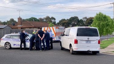 The homicide squad at Whittington on Wednesday afternoon.