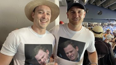 Craig Archer and Nic Van Hattum at the Boxing Day Test.