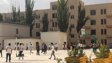 """Detained: a vocational """"training centre"""" in Xinjiang, China."""
