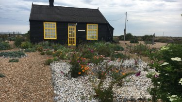 Derek Jarman's garden at Dungeness in Kent as it appeared close to 25 years after his death in 1994.