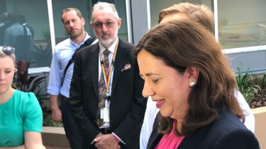 Premier Annastacia Palaszczuk speaks on Friday morning at the opening of the facility.