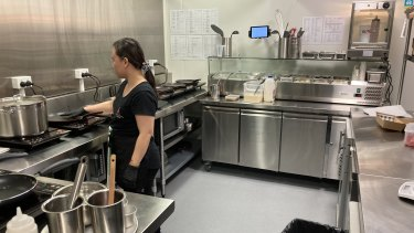 One of the smart kitchens within the facility in Coorparoo.