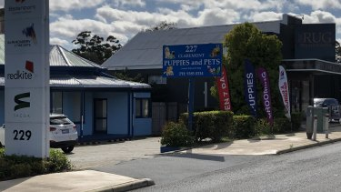 This pet shop in Claremont has sold puppies that were bred on a puppy farm in NSW, which has been raided by the RSPCA.