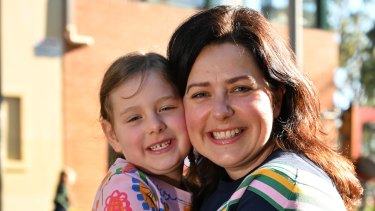 Christie Meishke is pleased she will be able to walk her daughter into school on her first day of kindy.