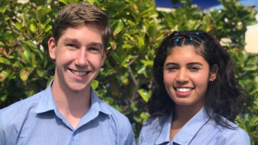 Hayden Lowe and Veruska Rodriguez from St Matthew's Catholic School travelled to Vietnam with Sydney University researchers last year to collect breast cancer data.