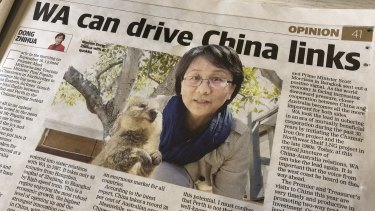 China's consul-general to WA Dong Zhihua has published two opinion editorials in as many months in Perth's daily newspaper.
