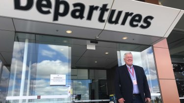John Wagner at Toowoomba Wellcamp Airport.