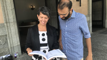 Greens candidate for the Paddington Ward, Donna Burns with Greens councillor Jonathan Sri release an $80 million plan to make buses, ferries and City Cats free outside peak hours.
