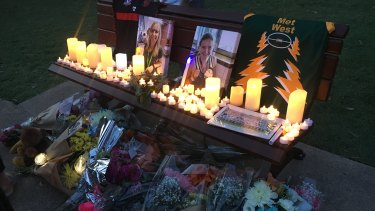 A vigil for Brisbane mother and daughterJulie and Jessica Richards on Sunday.