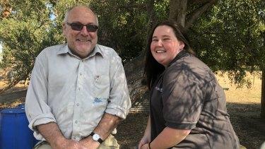 Tahlia with Hands on Learning artisan teacher Gregg Housden.