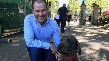 Steve Bakker and his dog Bozo would love to ride on Brisbane's CityCats.