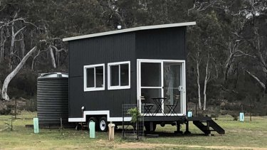 Tiny home accommodation has only recently been added to The Saddle Camp in Braidwood.
