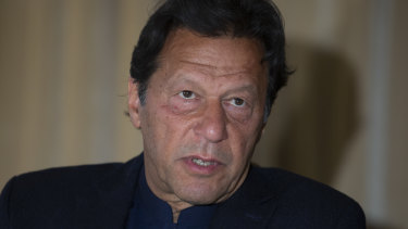 Imran Khan blames India for backing separatists.