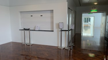 The new Coffee Hub in Parliament House - closed for Christmas week - replaced a cart in the corridor on the right.