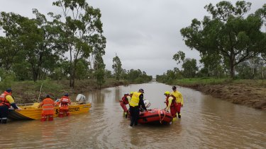 Townsville police have assisted with the evacuation of stranded motorists and re-supply of grazing property owners.