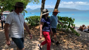 Annastacia Palaszczuk visitsFitzroy Island, off Cairns on Thursday