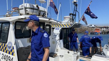 Marine Rescue NSW searched up to four nautical miles off shore.