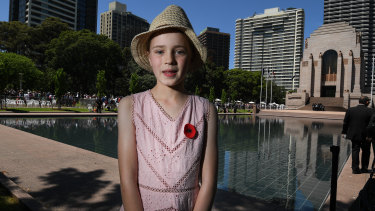 Rosemary O'Brien, aged 10, knows about World War I.