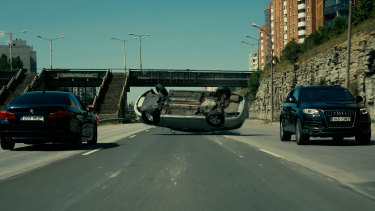 The spectacular car chase in Tenet involved drivers with steering wheels in the boot so they could go fast backwards.