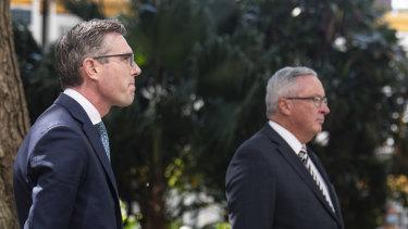 Treasurer Dominic Perrottet and Minister for Health Brad Hazzard.