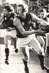 Ken Fletcher playing for the Bombers in 1979.