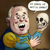 PM Scott Morrison. Illustration: John Shakespeare