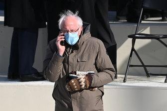 Senator Bernie Sanders at the inauguration.