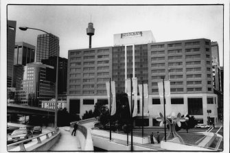 The heroin was left in room 713 of the Parkroyal Hotel in Darling Harbour, shown here from the early 1990s.