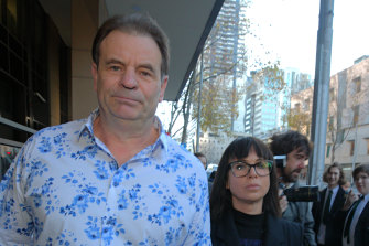 CFMEU boss John Setka at the Melbourne Magistrates Court in June with his wife Emma Walters by his side.