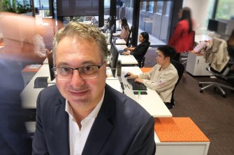 Victorian Chamber of Commerce and Industry chief executive Paul Guerra in his office last month.