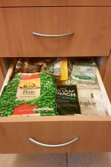 Dedicate a drawer to your clean plastic waste and just return to where you bought them.