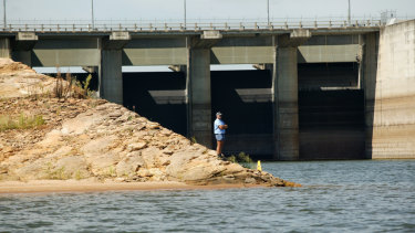 Wivenhoe Dam, which supplies water to south-east Queensland, has dropped below 59 per cent capacity.