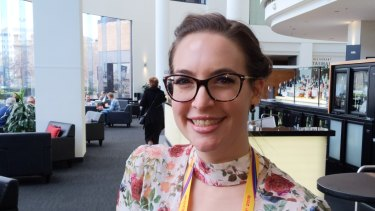 Samantha Costa at the Fertility Society of Australia's Annual Scientific Meeting in Hobart.