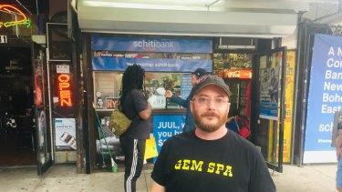 """Cash mob"" protest organiser JeremiahMoss."