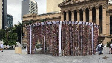 The One Million Stars art installation in King George Square.