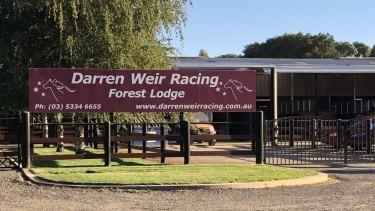 Darren Weir's stables in Miners Rest, near Ballarat.