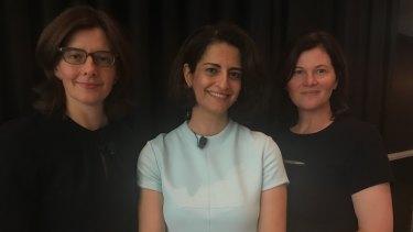 Vanessa Whittaker SC, Sera Mirzabegian and Maria O'Brien.