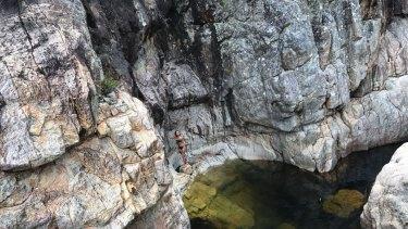 South coast swimming hole Nethercote Falls.
